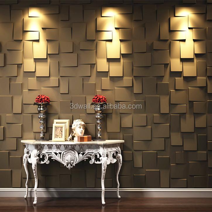 Fibra vegetal decorativo mural del papel pintado 3d for Papel mural tipo madera
