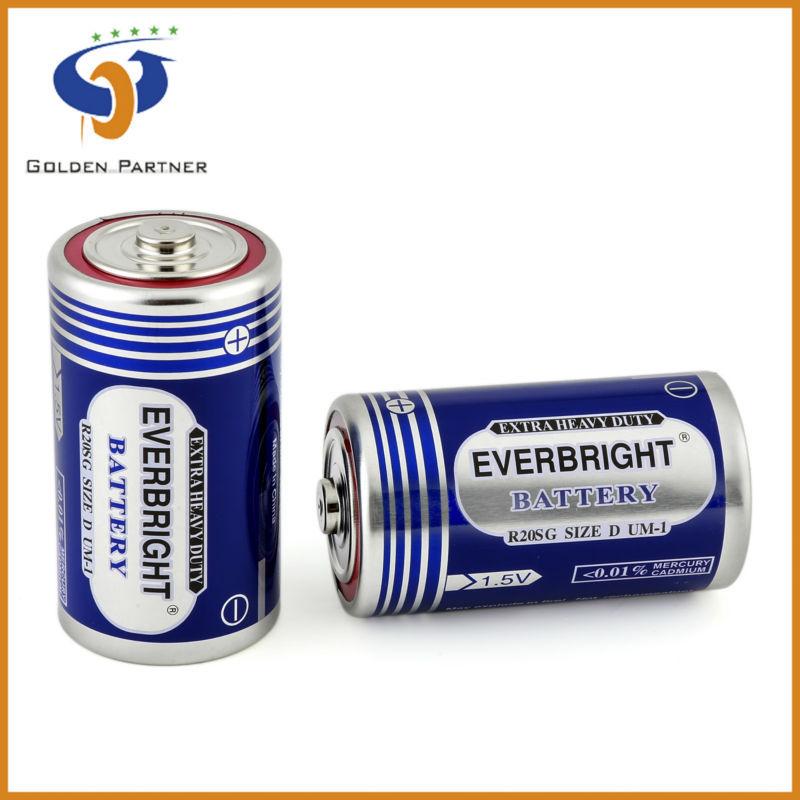 R20/um-1/size Dr20 Um-1 D 1.5v Battery R20 D Battery 1.5v Primary ...