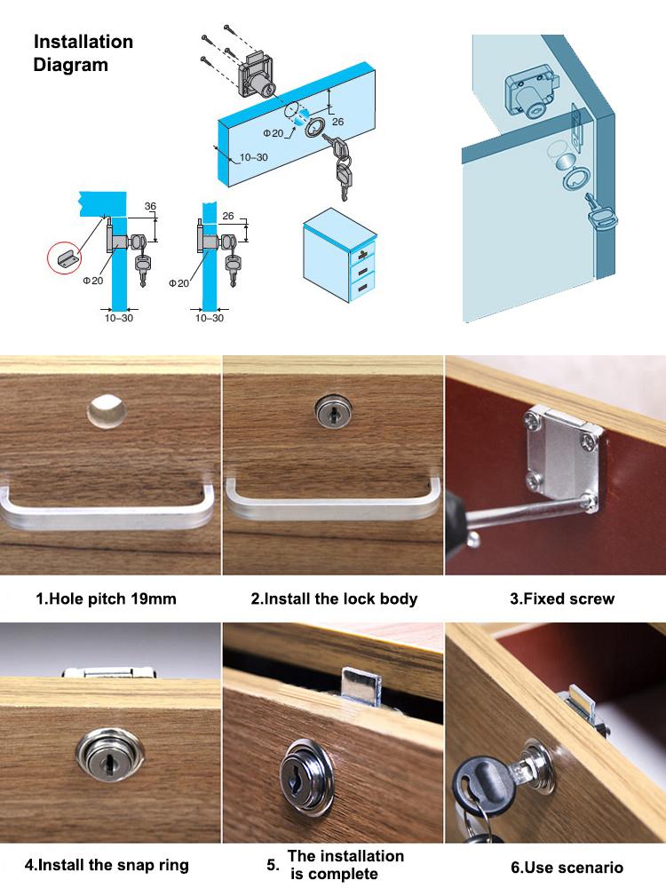 Furniture Drawer Lock 138 32 Xiaoboshi 22 Office Desk