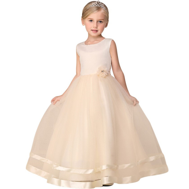 Kids Baby Flower Girl Party Lace Dress Wedding Bridesmaid Dresses Princess