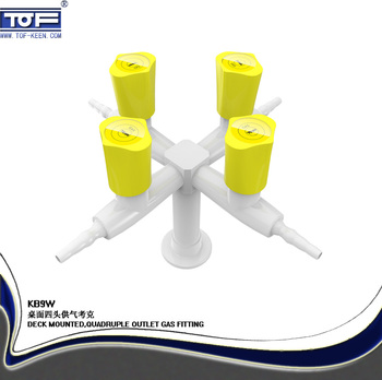 Table/deck Mounted Four Way Lab Gas Valve,Gas Fittings,Gas Faucet ...