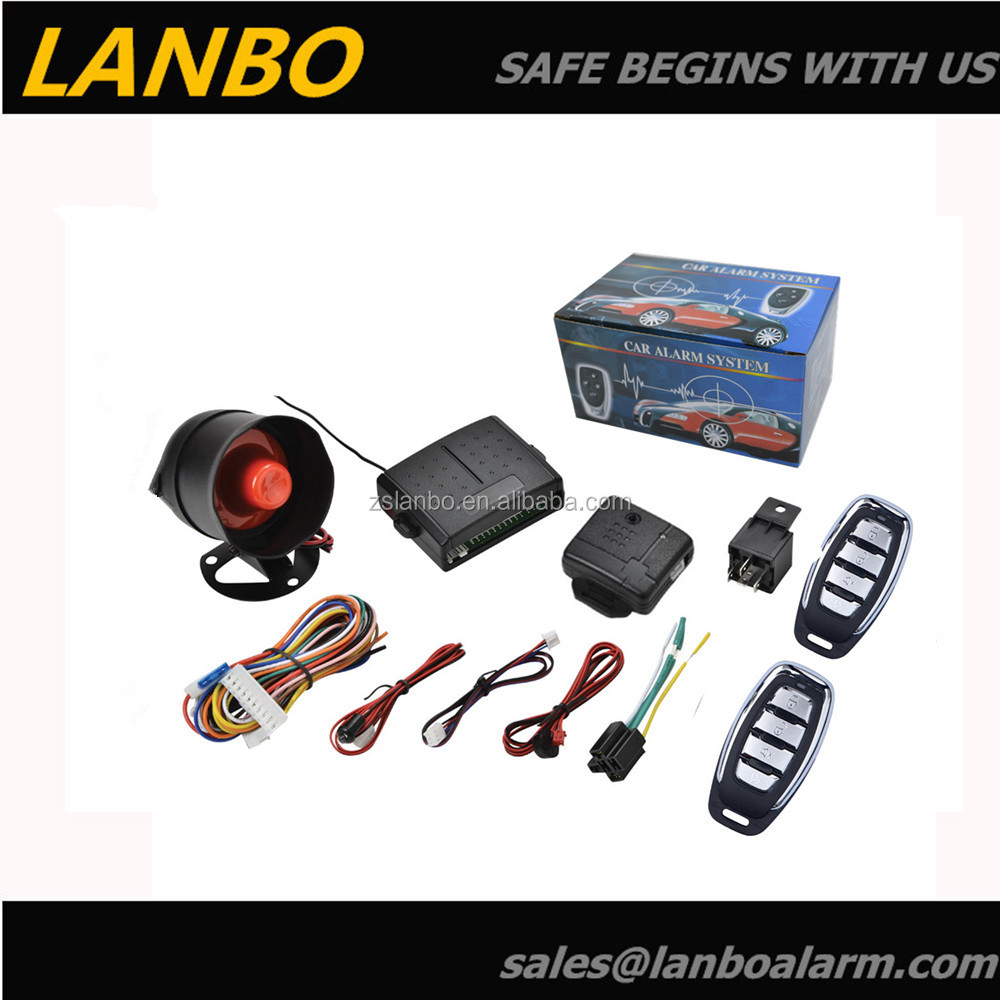 One Way Car Alarm System With Manual Central Door Lock Unlock Lb 102 Wiring Color Code View Auto Lanbo Product Details From Zhongshan Electronics Co