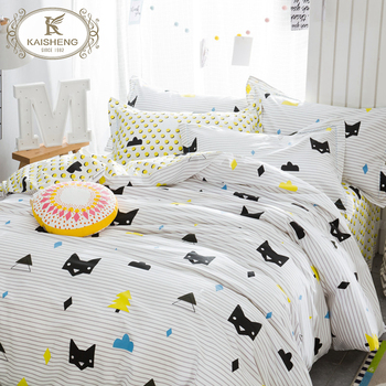 Eco Friendly Personalized 100% Organic Cotton Cartoon Single Bed Sheets