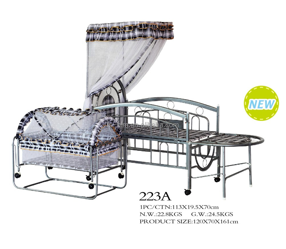 Baby bed net - Hot Sale Simple Iron Frame Baby Bed Set Baby Crib Set With Mosquito Net 223a