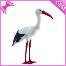 "12"" Standing White Stork Bird Stuffed Animal Plush Toy Stork, Stork Plush, Stuffed Stork Toy"