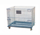 China Folding collapsible metal storage cage with rollers