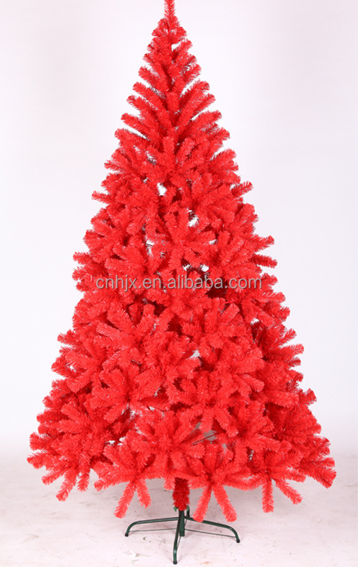 Premium Red Giant Dense PVC Christmas Tree Wedding Party Hotel Decoration