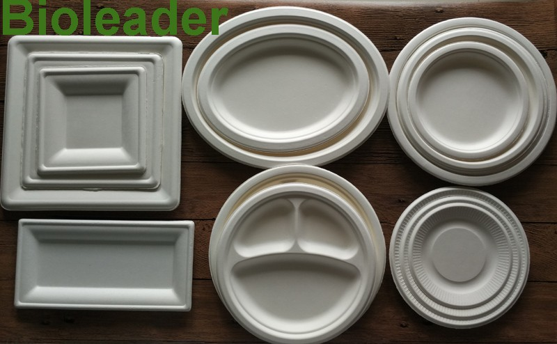 disposable dinner bagasse 3 compartment paper plate buy disposable