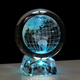Round Ball Engraving Glass World Globe Crystal Earth Ball Graduation Memorial Souvenirs
