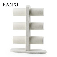 FANXI all matched creamy white tree shape linen display pendant/bracelet/bangle/watch display for jewelry display floor stands