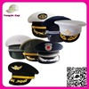 Factory Made military Costume Hats uniform cap with with golden embroidery