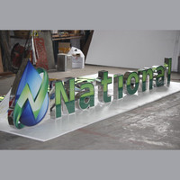 Outdoor waterproof outdoor led sign board price 3d acrylic letter