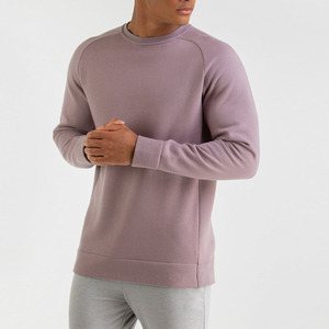 Wholesale Fashion OEM French Terry Blank Plain Men Custom Crewneck Sweatshirt