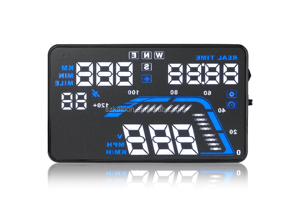 "Auto hud Head Up Display q7 5.5"" con gps"