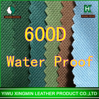 100% pvc coating waterproof polyester 600D oxford fabric for bag and tent