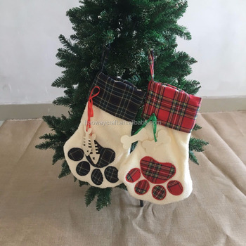 Christmas Stockings For Dogs.Wholesale Monogram Plaid Dog Paw Christmas Stocking Buy Christmas Paw Stocking Dog Paw Christmas Christmas Stockings Product On Alibaba Com