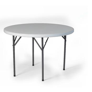 Patio Side Table Folding Legs White