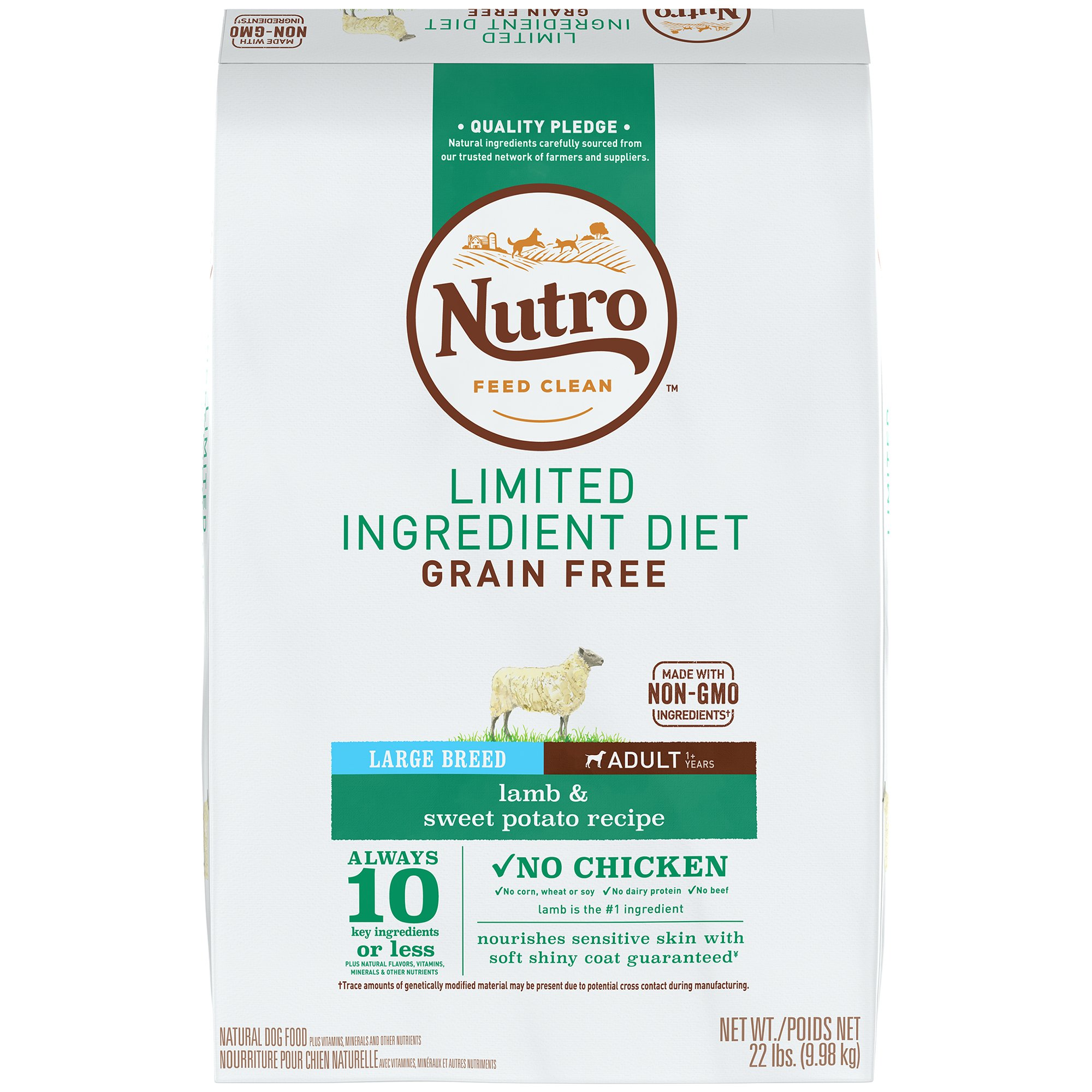 NUTRO Limited Ingredient Diet Adult Dry Dog Food Large Breed - Lamb