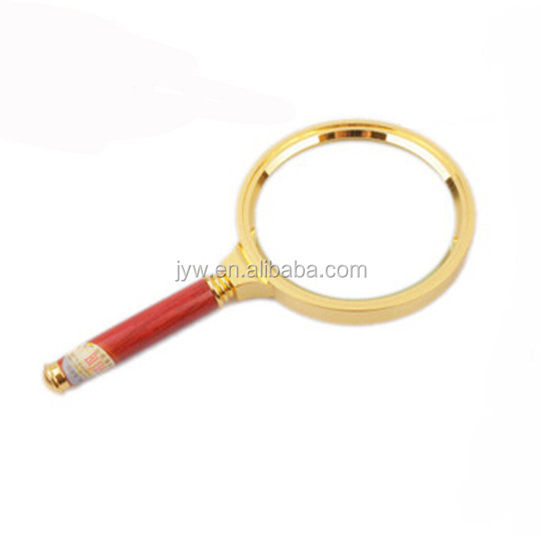BIJIA 6X pocket wooden handle magnifying glass/handheld magnifier/high quality magnifier