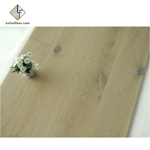 smoked oak timber industrial parquet flooring price