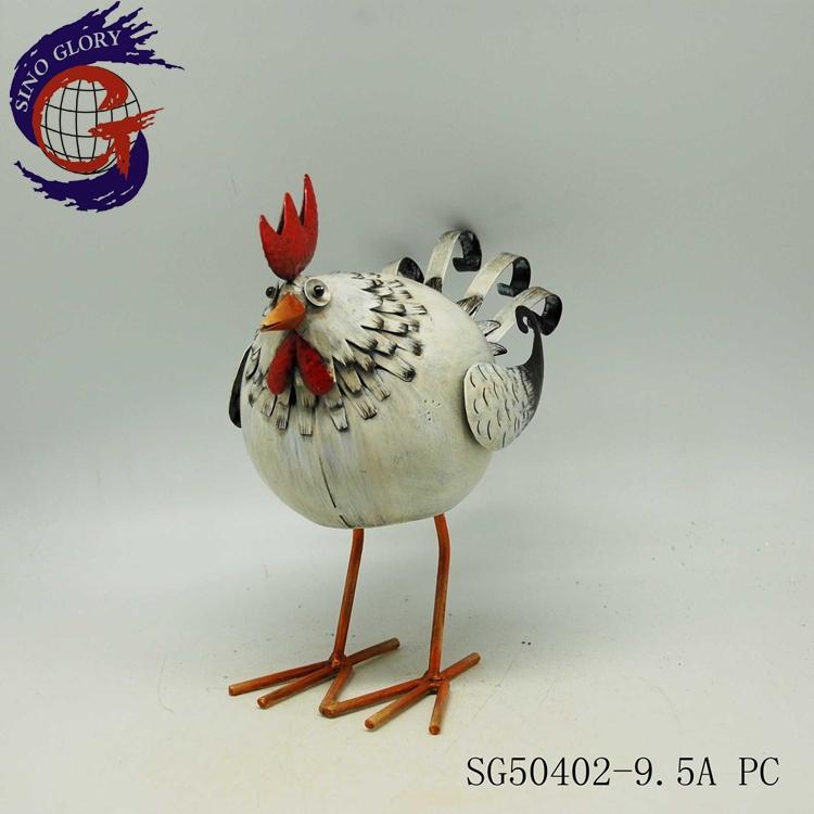 Metal Chicken Arts Crafts Outdoor Decorations For Garden