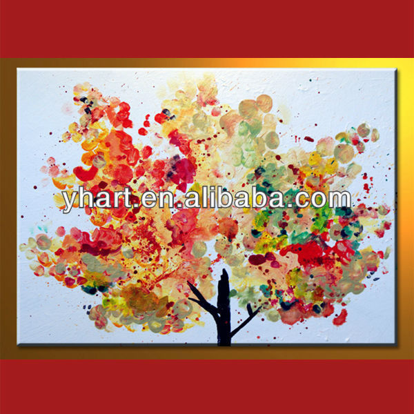 Newest Design Handmade Home Decor Wall Art Tree Of Maple Painting
