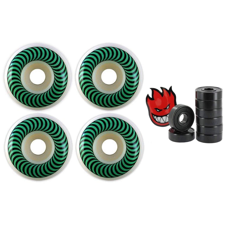 Spitfire Skateboard Wheels 52mm Classics Green Bearings