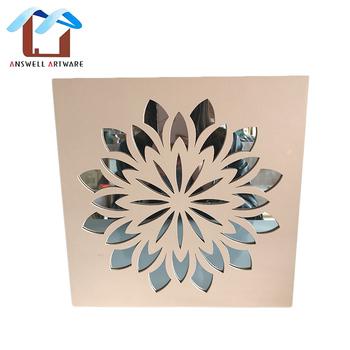 Lotus Flower Shape Wooden Wall Decor Mirrors Buy Mirrors Decor