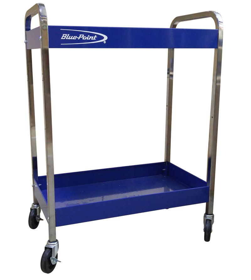 Blue Point Tool Cart >> Blue Point High Quality Mobile Tool Storage Roll Cart With 2 Shelves