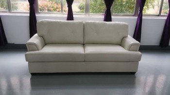 Living Room Sofa Air Leather Material 2 Seater Low Back