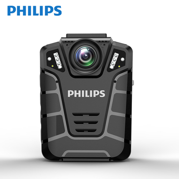 Philips Original Remote Control  IP68 Ambarella Chip 4 Infrared LED GPS Police Body Worn Camera