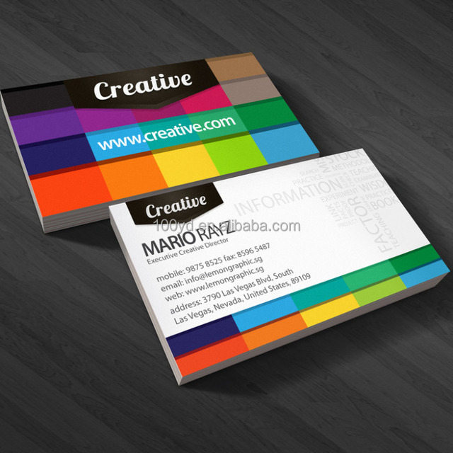 Buy cheap china custom creative business cards products find china 2017 custom creative rainbow letterpress business cards design reheart Choice Image