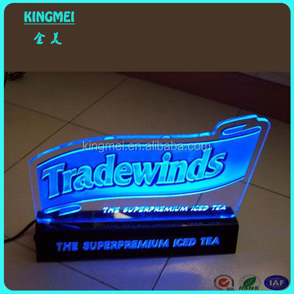Kingmei made in China bar clear acrylic lighted transparent led display, led display sign, led display board