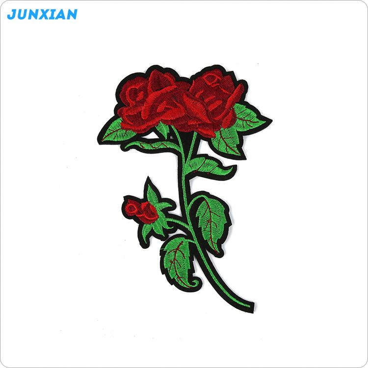 Most popular different types custom 3D flower embroidery patch