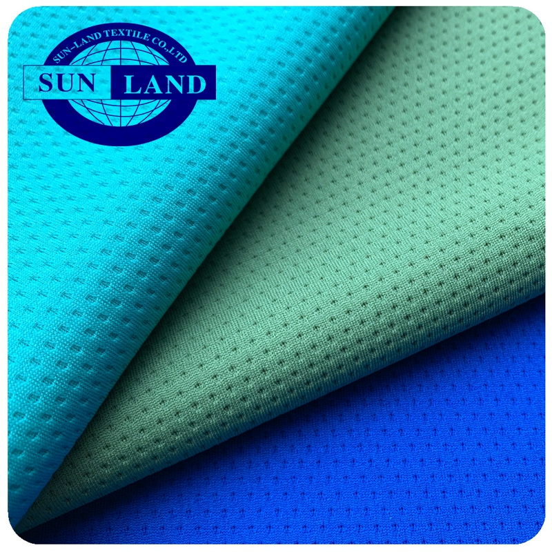 hot sale 100% Coolpass polyester dry fit wicking circular knitting honeycomb mesh fabric for soccer shirt