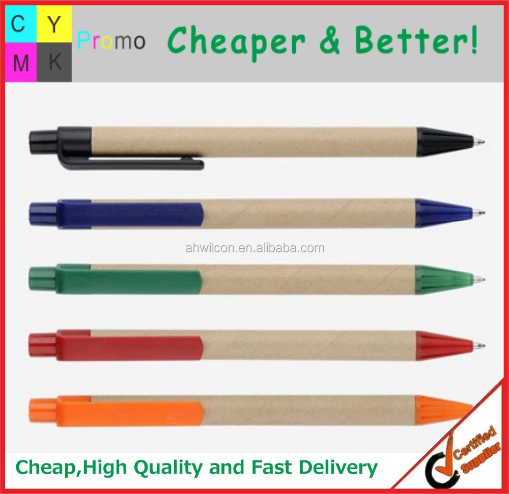 2016 logo Printed Paper material pen, Promotional Recycled Paper Pen