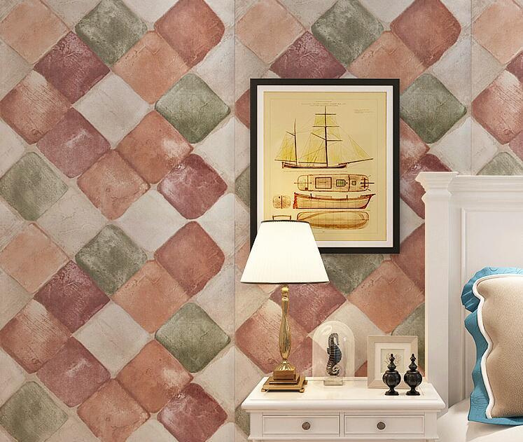 Pvc vinilo papel de pared 3d de Pvc PAPEL DE 3d de Pvc de diseño a prueba de papel para la decoración de la casa de adhesivo