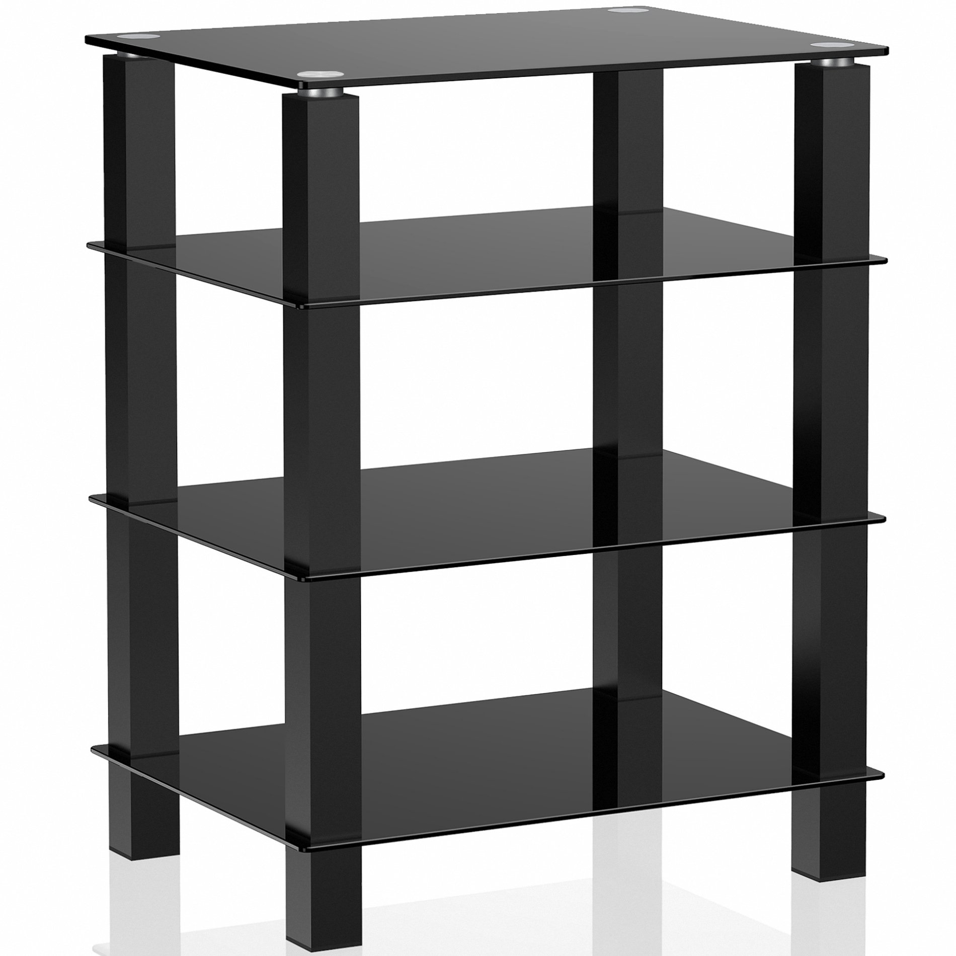 Exceptionnel FITUEYES 4 Tier Media Component Stand Audio Cabinet With Glass Shelf For  /Apple Tv
