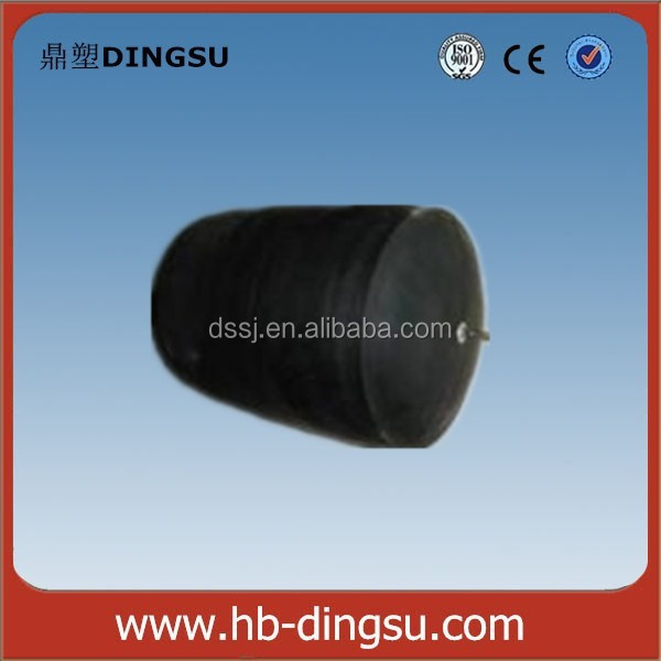 Inflatable rubber pipeline water stopper