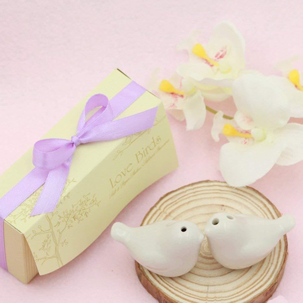 Love Bird Salt & Pepper Shakers Wedding Party Favor Gift 1 Set