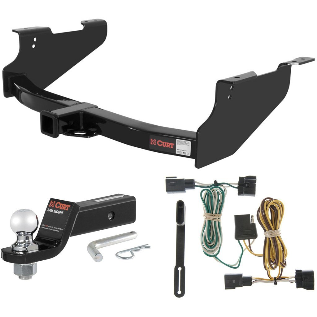 """CURT Class 3 Trailer Hitch Tow Package with 2"""" Ball for 2002 Dodge Ram 1500"""