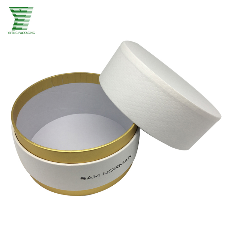 Wholesale Cylinder Custom Made cardboard white hat box round