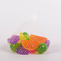 BPA free fruit shape plastic reusable ice cube