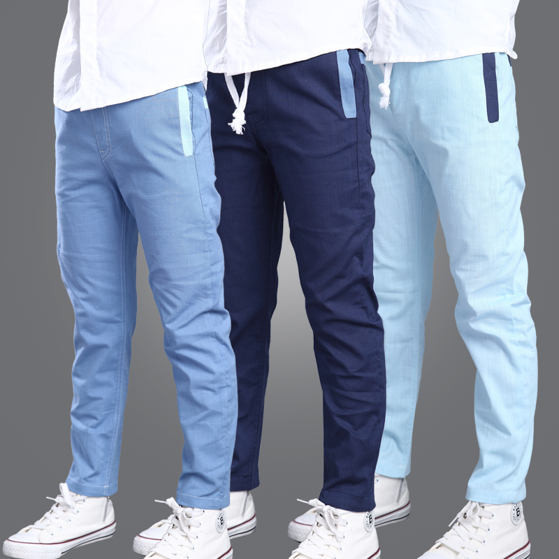 2016 summer boy pants boys trousers feet Spring and Autumn thin section cotton pants large influx