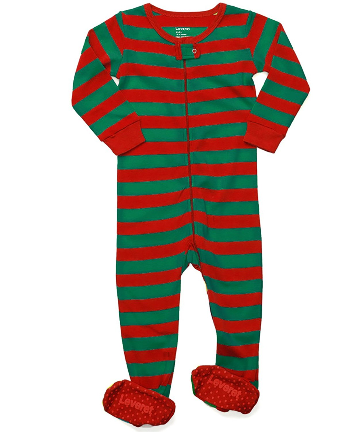 Leveret Striped Baby Boys Girls Footed Pajamas Sleeper 100/% Cotton Kids /& Toddler Christmas Pjs 3 Months-5 Toddler