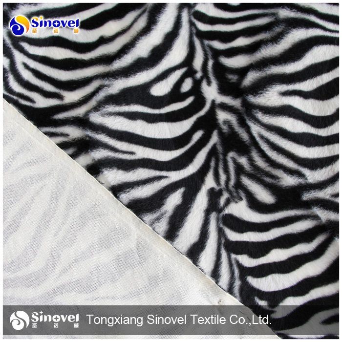 Animal print fleece velvet fabric velboa printing fabric for toys