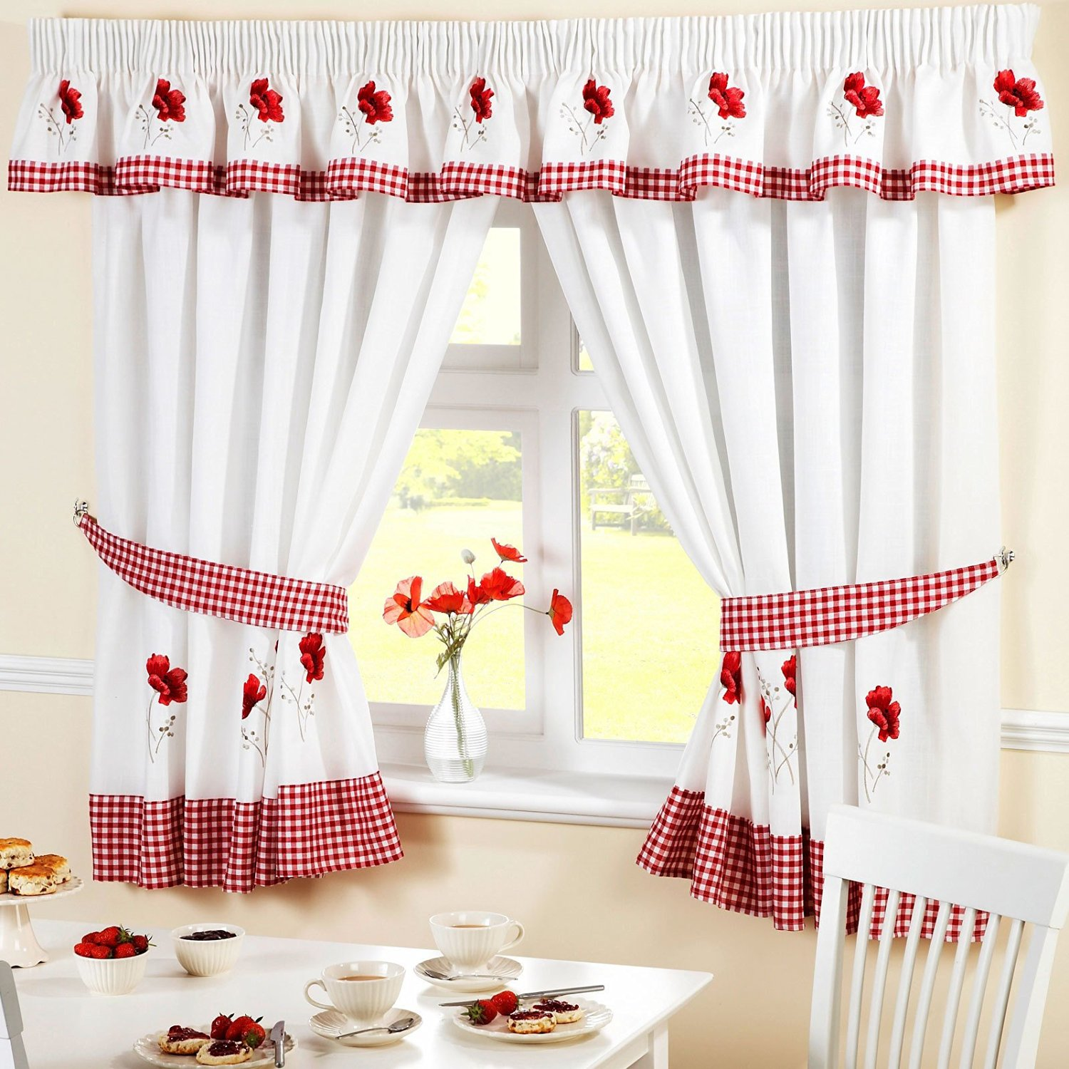 Wondrous Cheap Red White Kitchen Curtains Find Red White Kitchen Download Free Architecture Designs Grimeyleaguecom