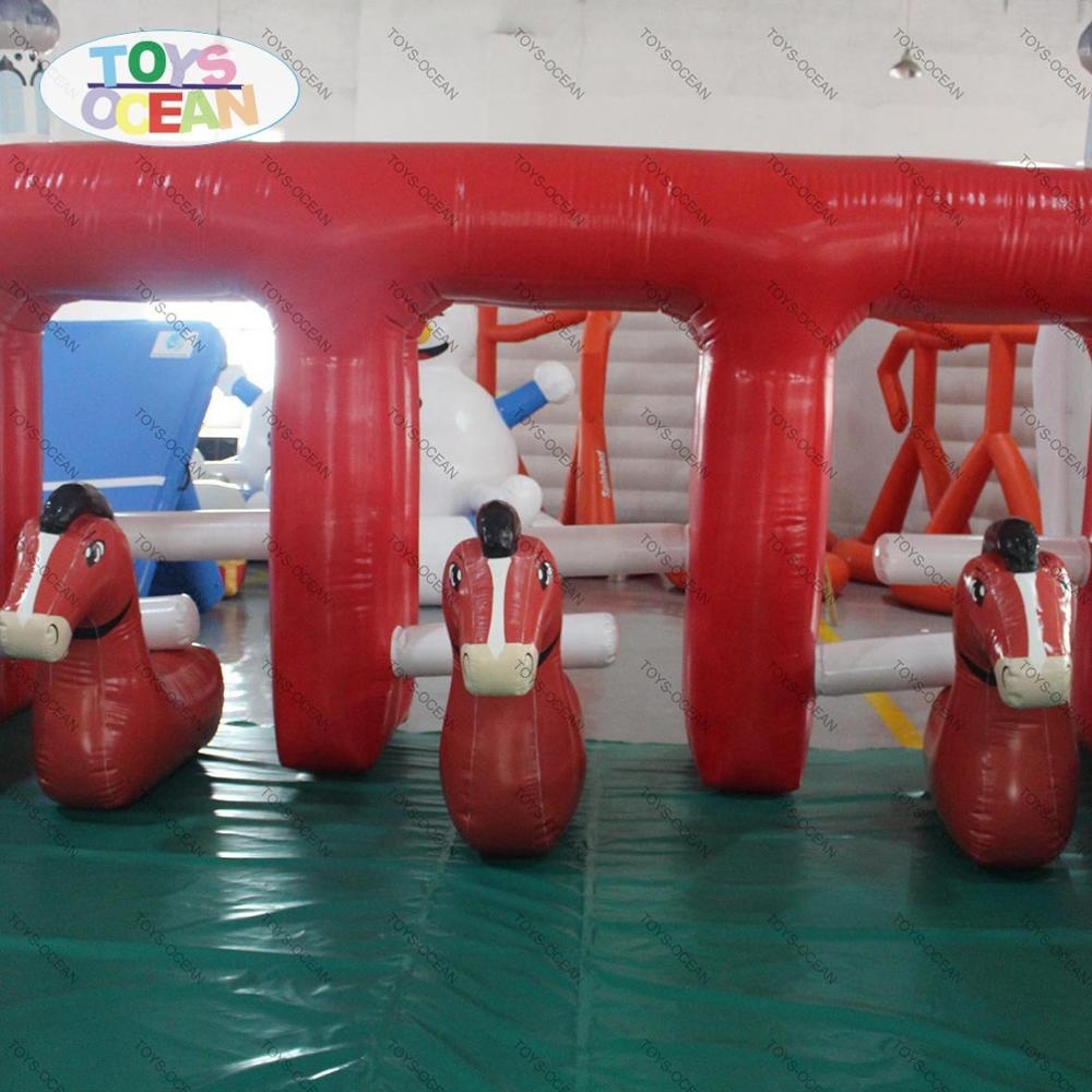 Outdoor playground commercial adult inflatable horse racing for sale
