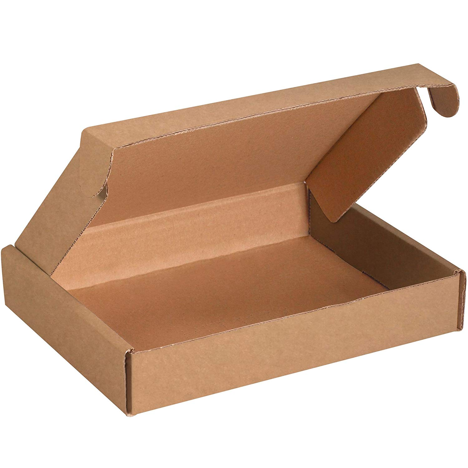 Boxes Fast BFMFL1183K Deluxe Literature Cardboard Mailers, 11 1/8 x 8 3/4 x 3 Inches, Corrugated Die-Cut Shipping Boxes, Large Brown Kraft Mailing Boxes (Pack of 50)