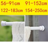 shower spring tension rod for curtain cafe rod net rod curtain telescopic pole flexible rail